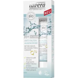 Lavera Basis Sensitiv Anti-Falten Q10 Augencreme Foto