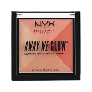 NYX Away we glow Illuminating Powder Puder Foto