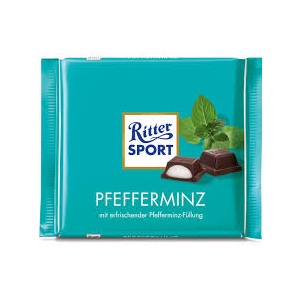 Ritter Sport Pfefferminz Schokolade Foto