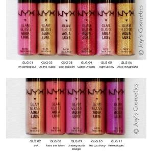 NYX Cosmetics Glam Lip Gloss Aqua Luxe Foto