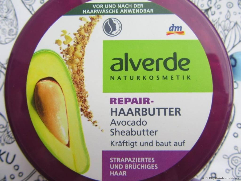 Alverde Naturkosmetik Repair Haarbutter Avocado Sheabutter Haarmaske