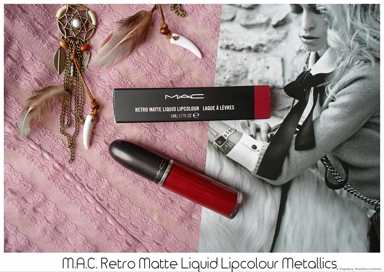 MAC Retro Matte Liquid Lipcolour Metallics Lippenstift Foto