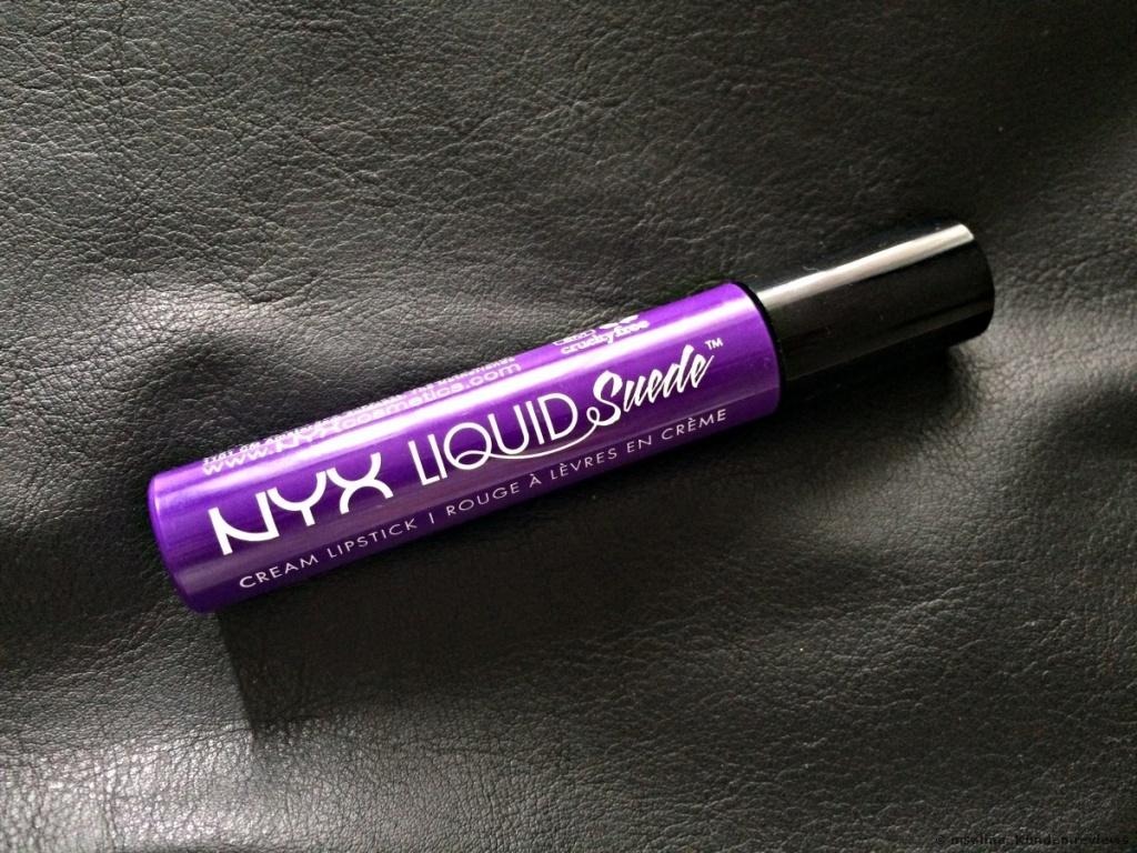 NYX Liquid Suede Lippenstift in Amethyst