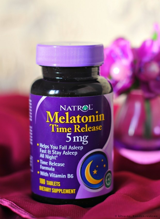 Natrol Melatonin Time Release  Nahrungsergänzungsmittel Foto