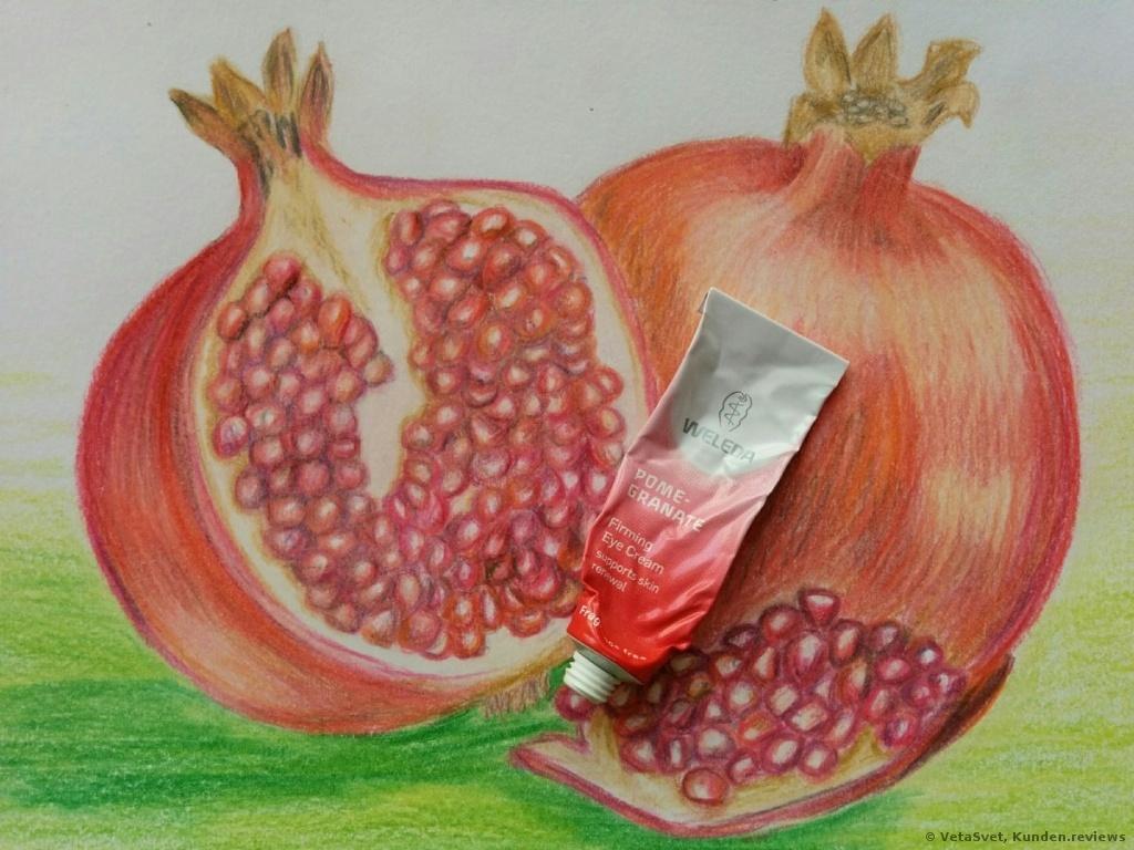 Weleda straffende Augenpflege Granatapfel