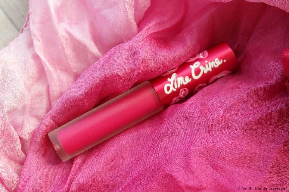 Lime Crime Pink Velvet Lippenstift