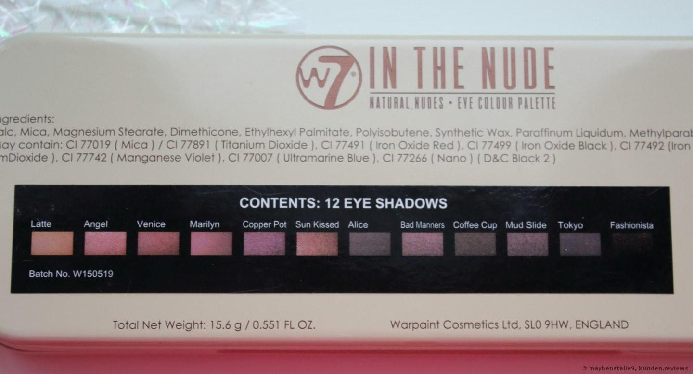 W7 In The Nude Lidschatten Foto