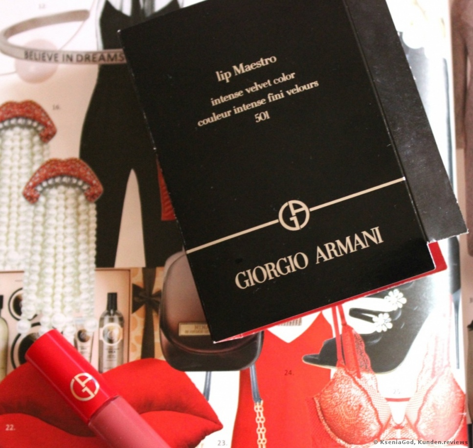 Giorgio Armani Lip Maestro Lipgloss 501