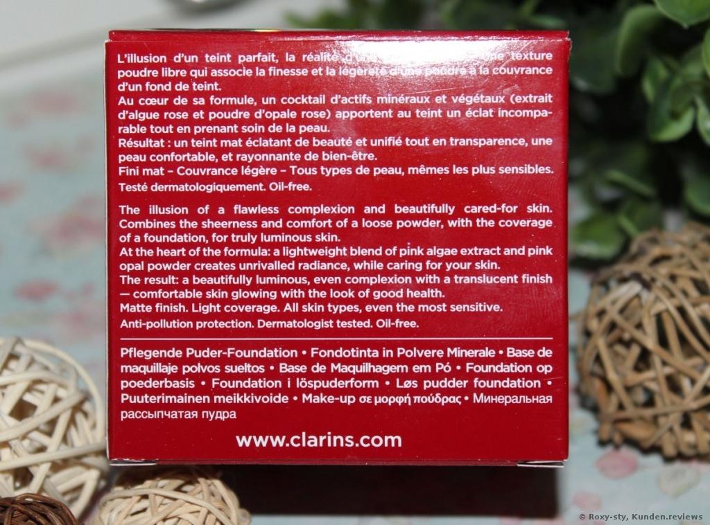 Clarins Teint Skin Illusion Fond de Teint Poudre Libre Clarins Teint Skin Illusion Fond de Teint Poudre Libre