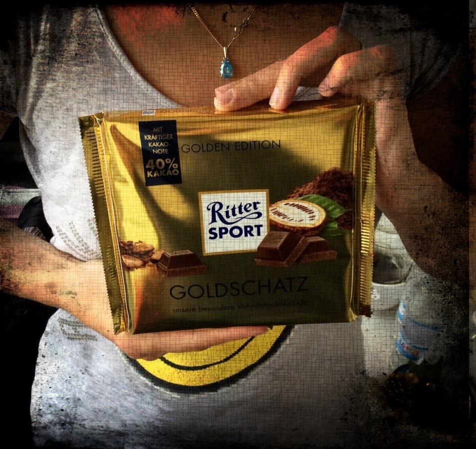 Ritter Sport 250g Goldschatz Schokolade Foto
