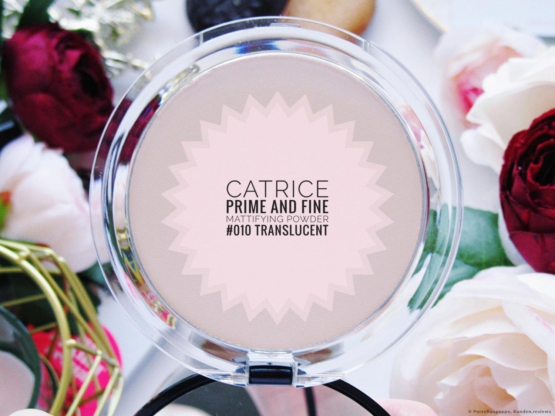 Catrice Gesichtspuder Prime And Fine Mattifying Powder Waterproof Translucent 010