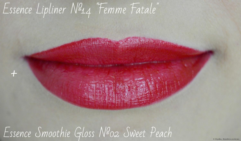 Essence Lipliner +Lipgloss als Topper