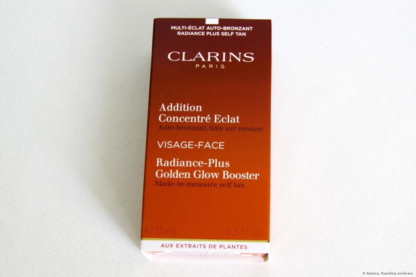 Clarins Addition Concentré Eclat Auto-bronzant Radiance Plus Golden Glow Booster Selbstbräuner