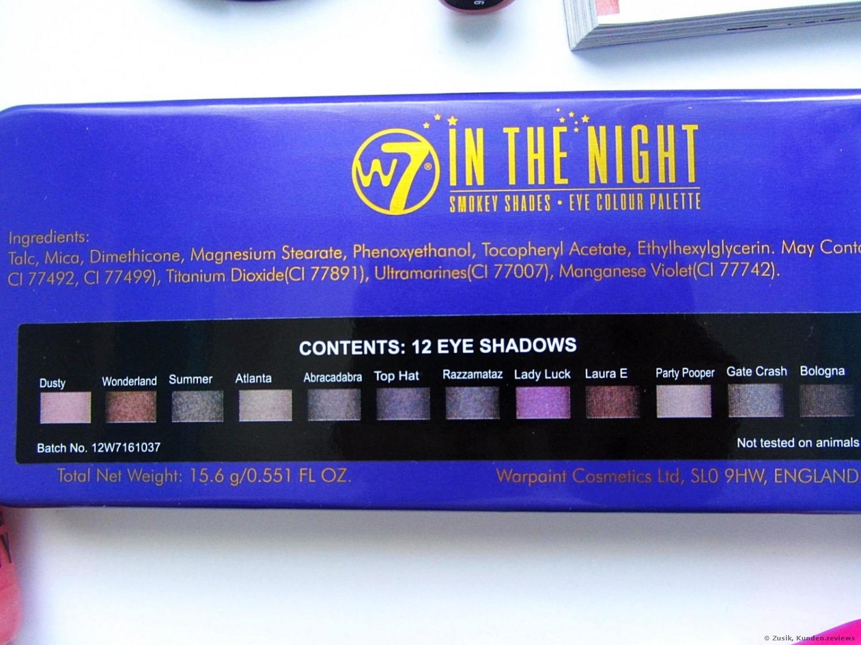 W7 In The Night Lidschatten Foto