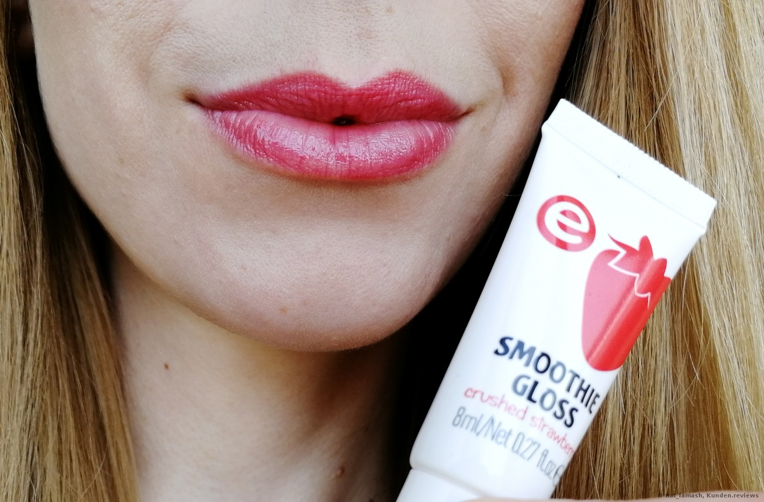 essence smoothie gloss 04 crushed strawberry