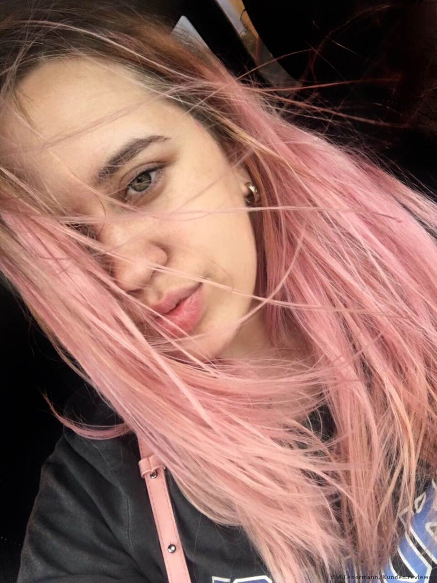 L 39 or al paris colovista washout haarfarbe vom b rofutzi zum rosa flamingo kompromissl sung - 10 minuten haarfarbe ...
