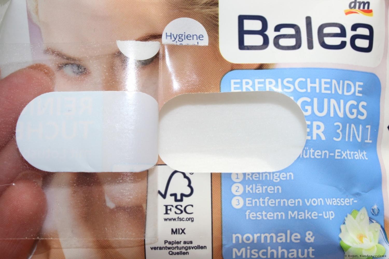 Balea Erfrischende Reinigungstücher 3in1   Foto