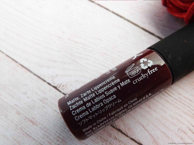 NYX Soft Matte Lip Cream -20 Copenhagen