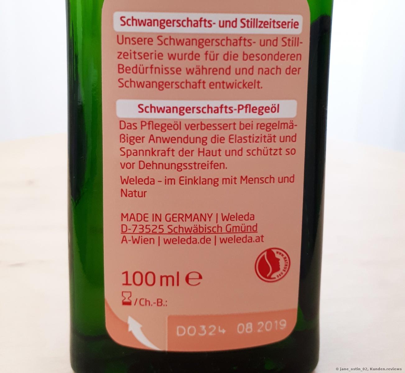 Weleda Schwangerschafts-Pflegeöl Foto