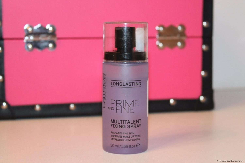 Das transparente Catrice Prime And Fine Multitalent Fixing Spray