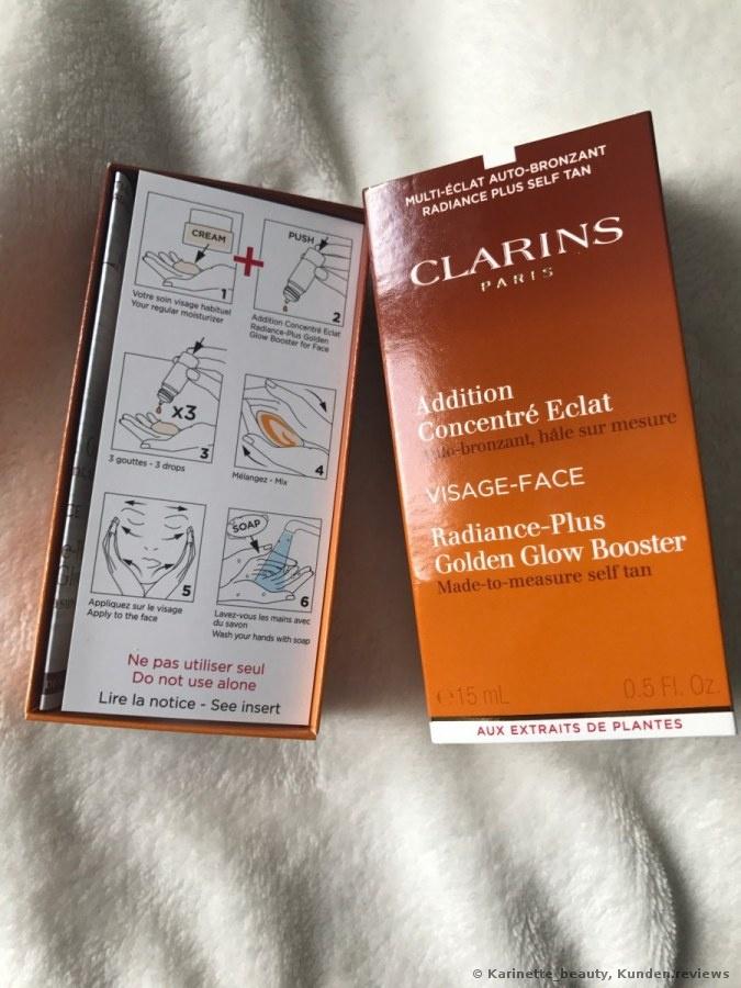 Clarins Addition Concentré Eclat Auto-bronzant Radiance Plus Golden Glow Booster Selbstbräuner Foto