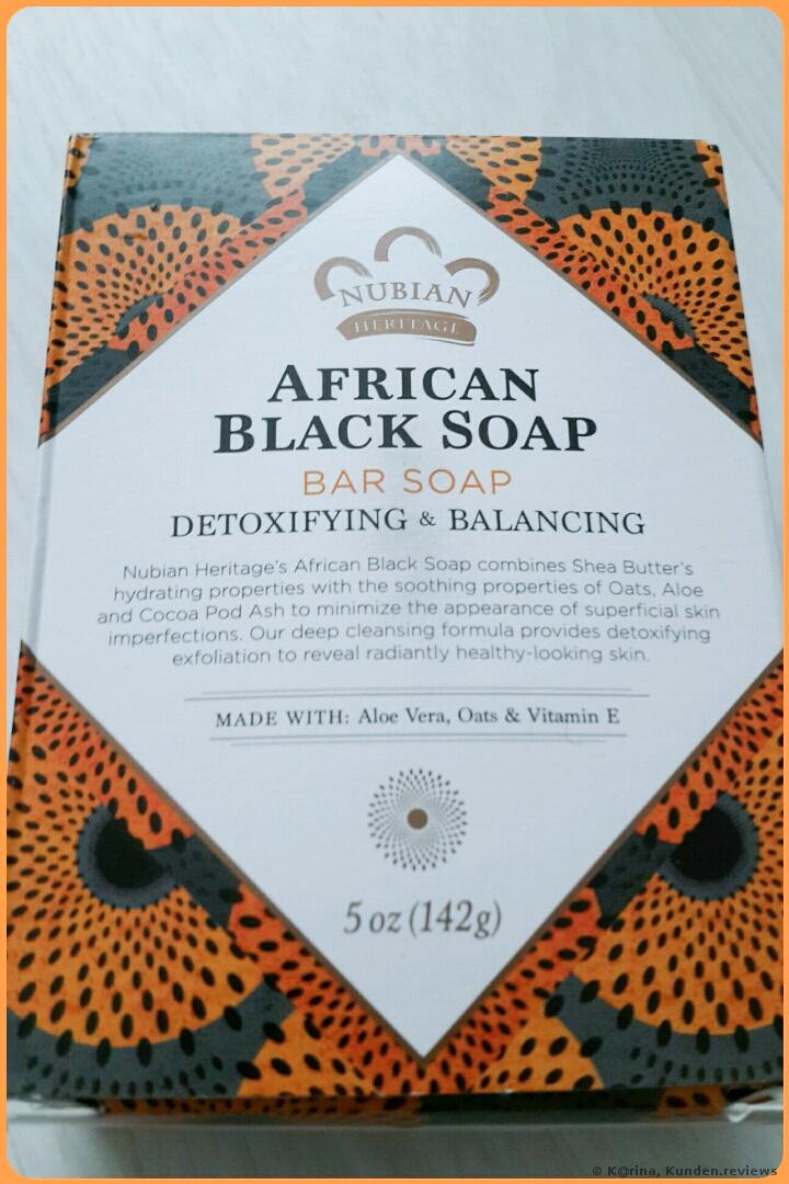 Nubian Heritage African Black Soap Afrikanische schwarze Seife  Foto