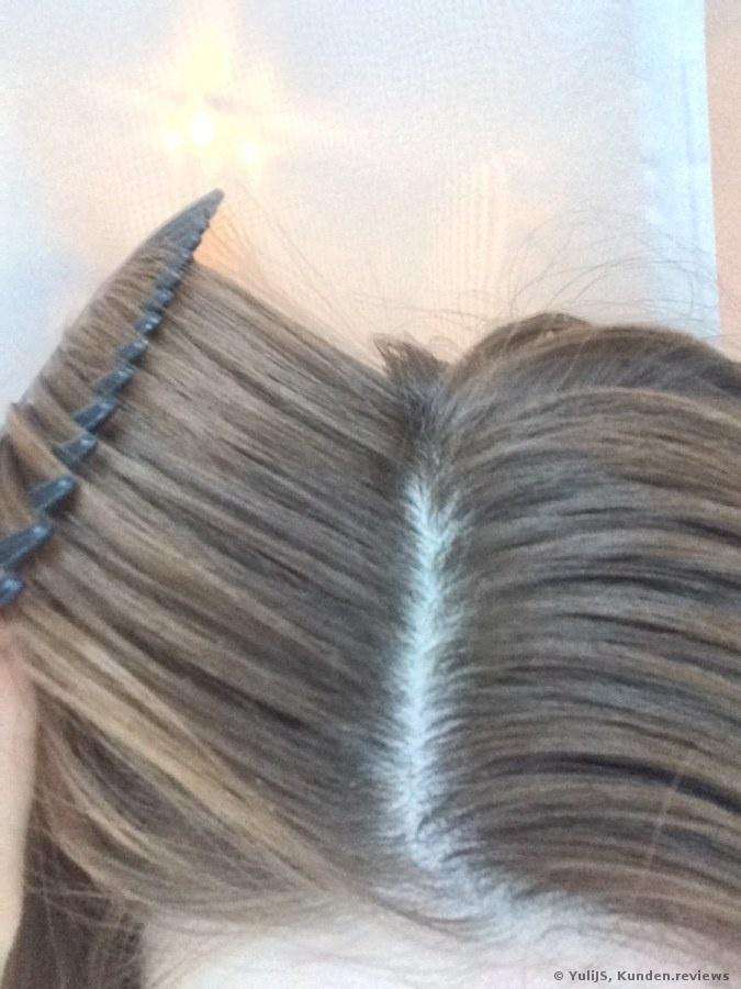 schulter langes Haar.