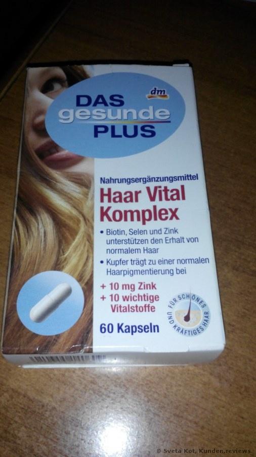 DAS gesunde PLUS Haar Vital Komplex Kapseln Nahrungsergänzungsmittel Foto