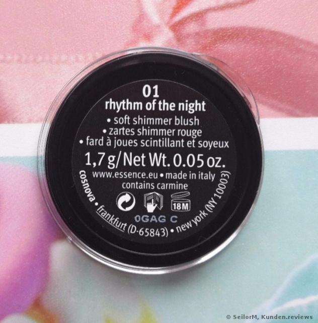 essence - *Live.Laugh.Celebrate* - Shimmer Blush - 01: Rhythm of the night