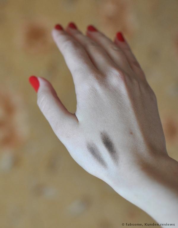 Die Swatches auf meiner Hand