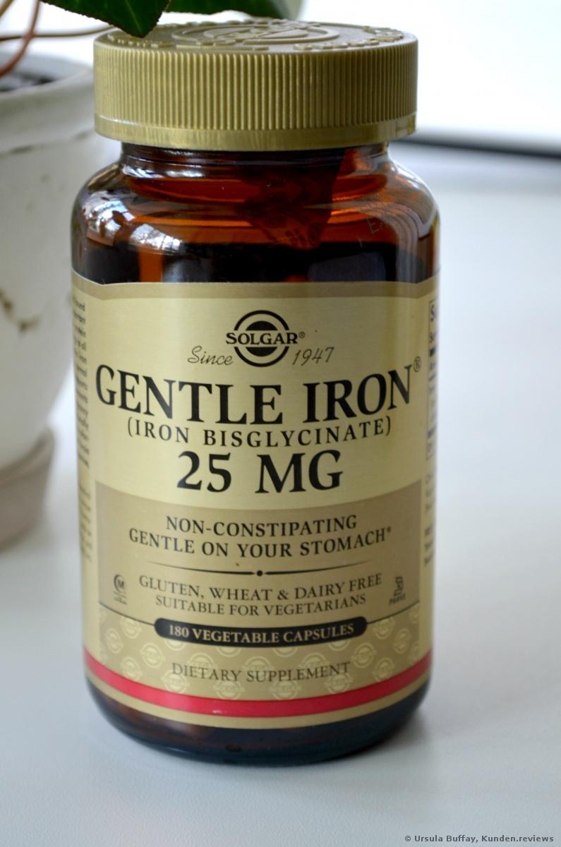 Solgar Gentle Iron (Schonendes Eisen) Nahrungsergänzungsmittel Foto