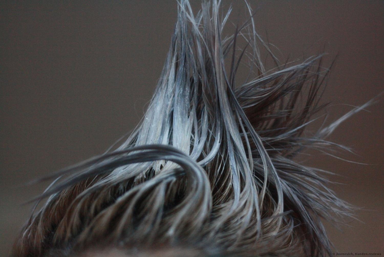 So sieht Schwarzkopf Professional Igora Expert Mousse auf den Haaren aus
