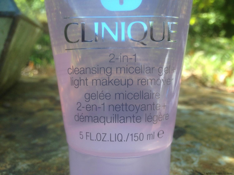 CLINIQUE 2-in-1 Cleansing Micellar Gel & Light Makeup Remover Make-up Entferner Foto