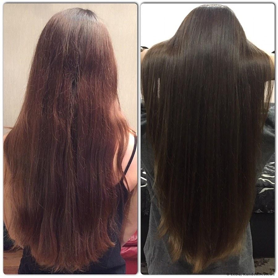 Vorher und Nachher mit AUSSIE Spülung Miracle Moist
