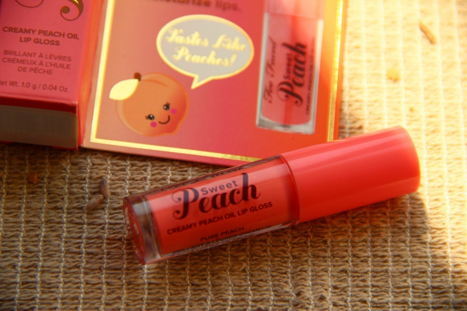 Sweet Peach Creamy Lip Oil von Too Faced