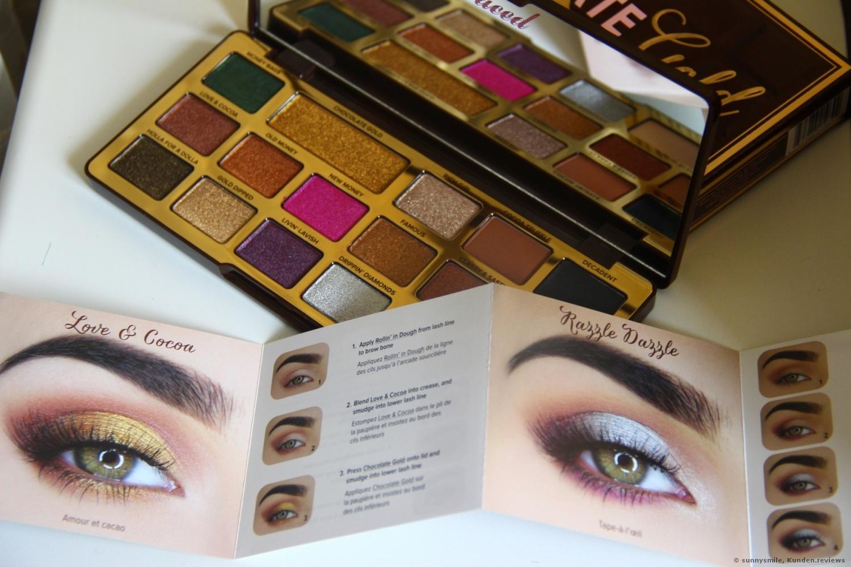 Too Faced  Chocolate Gold Eye Shadow Palette Lidschatten Foto