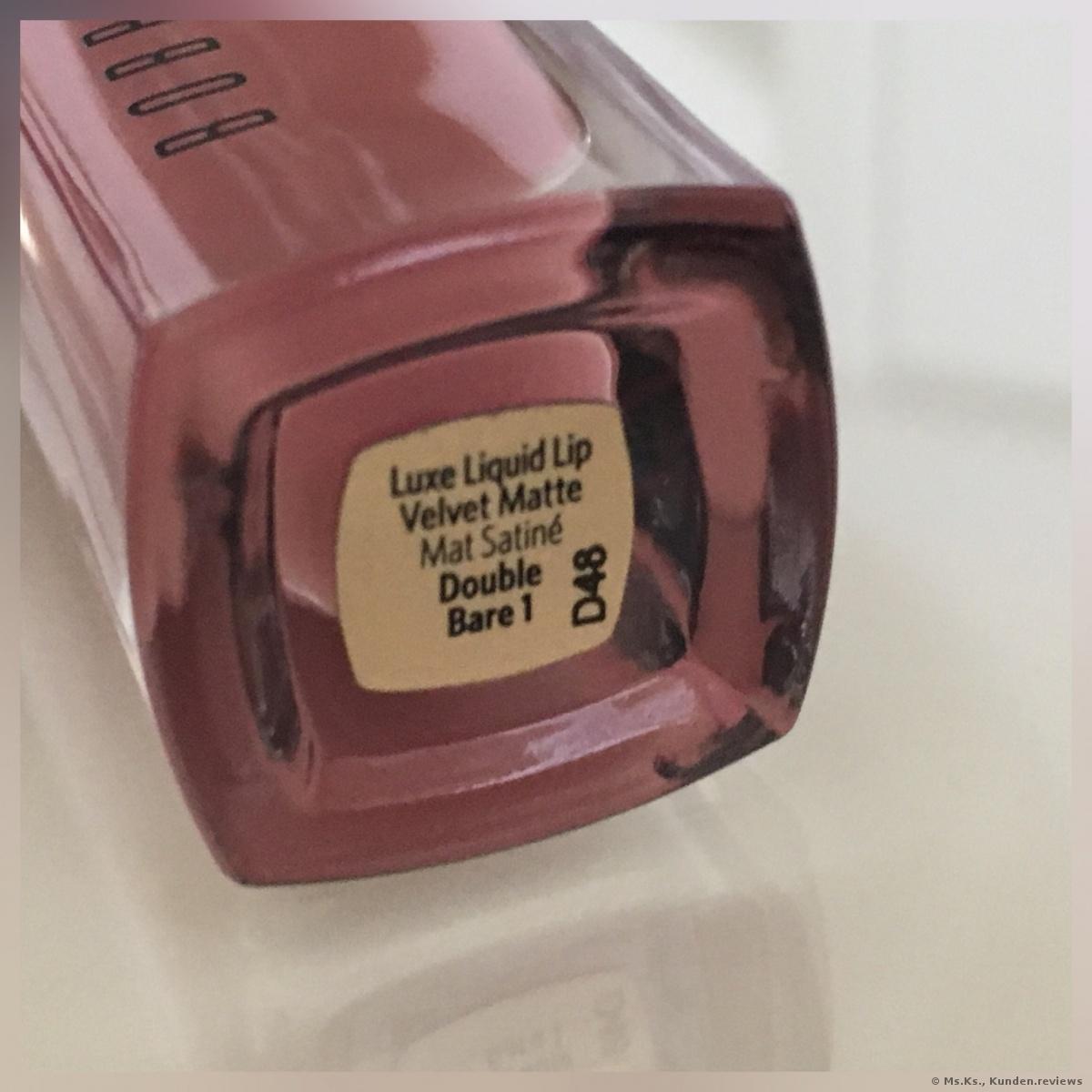 Bobbi Brown Luxe Liquid Lip Velvet Matte - Double Bare 1