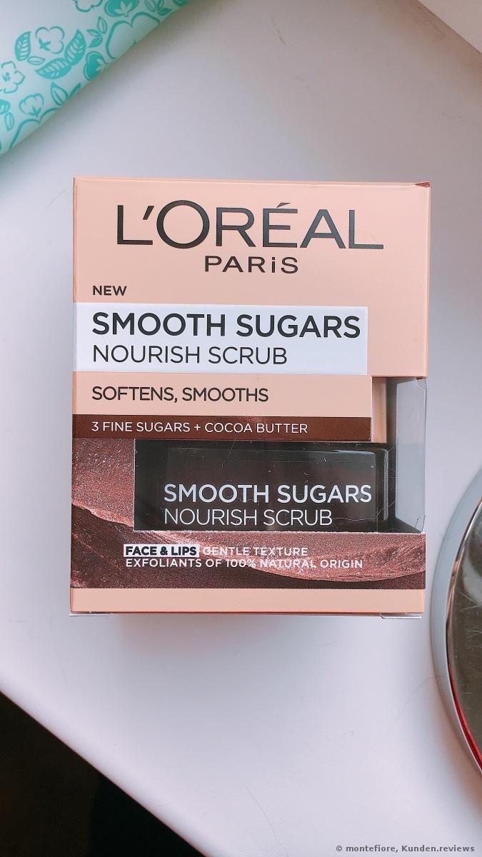 L'Oréal Paris Sugar Scrubs mit Kakao-Butter, Verwöhnendes Peeling Gesichtsmaske Foto