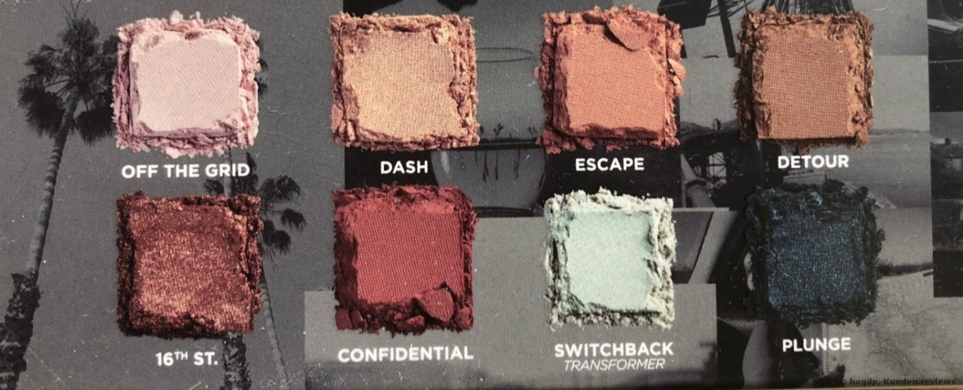 Urban Decay On The Run # DETOUR Lidschattenpalette