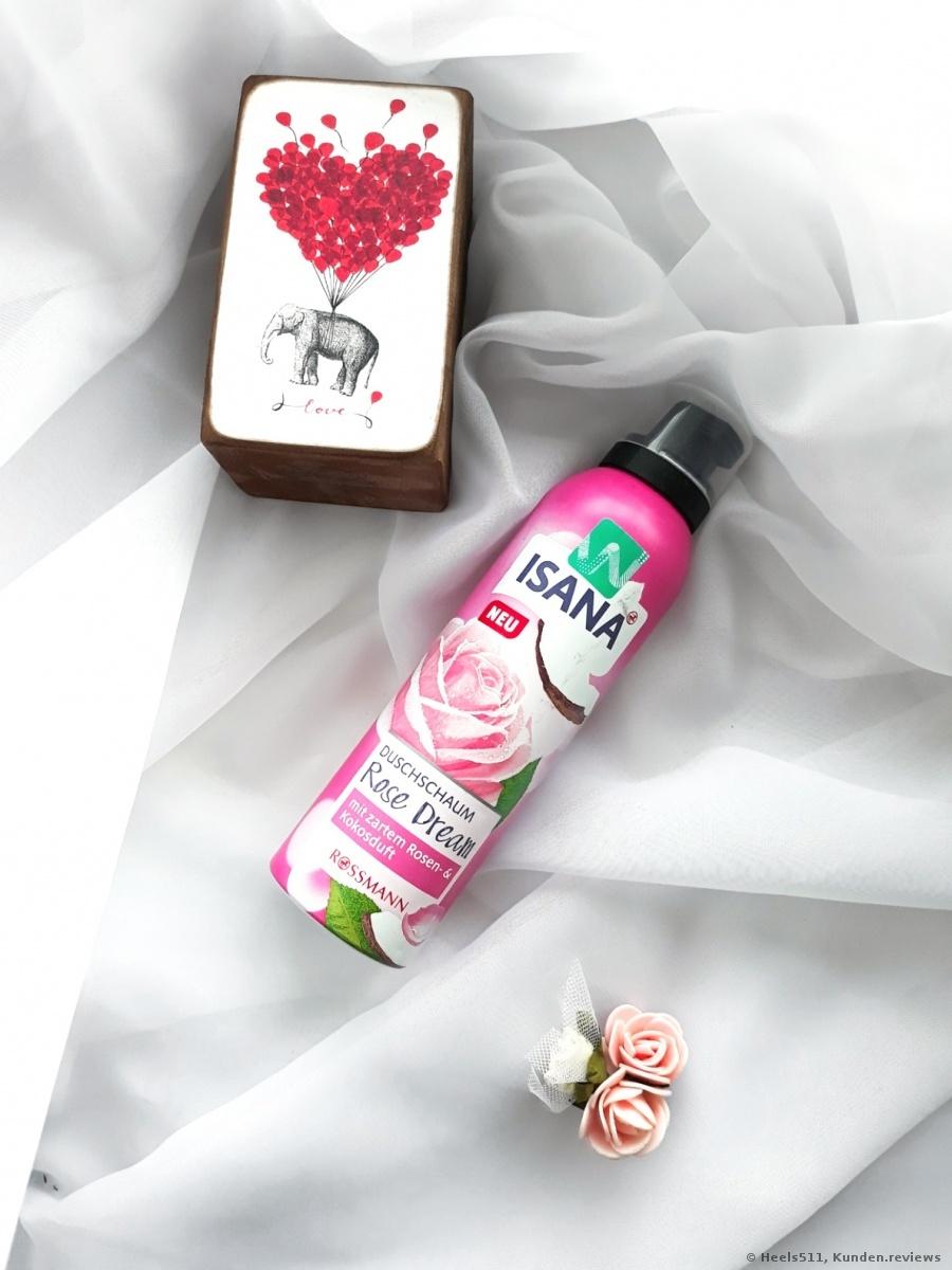 ISANA Körperschaum Rose Dream mit zartem Rosen- & Kokosduft.