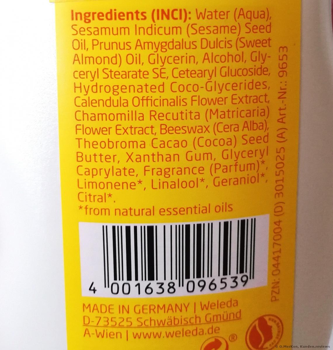 Weleda Baby Calendula Pflegemilch