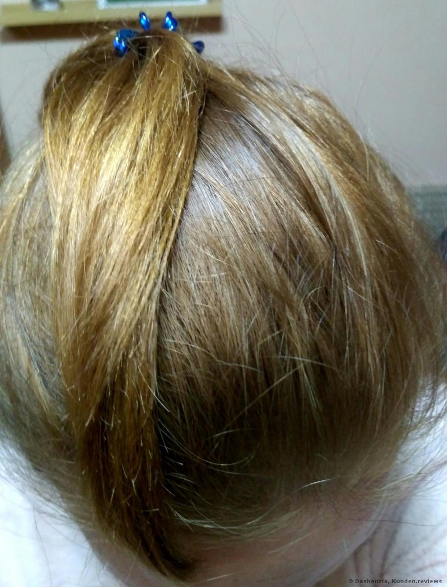 nachher mit BERRYWELL Farbfreude Creme Haarfarbe 9.8
