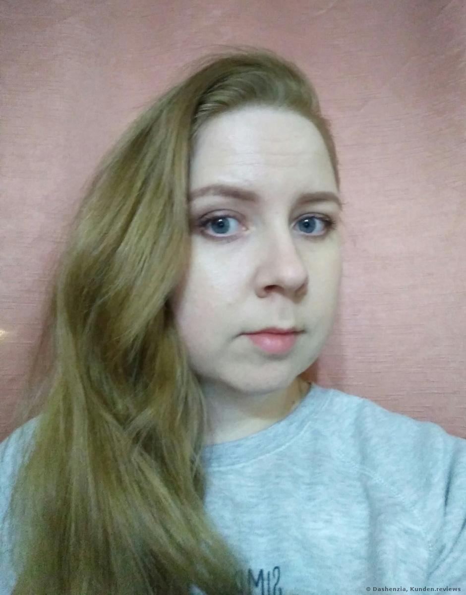 am nächsten Tag nach der Färbung mit BERRYWELL Farbfreude Creme Haarfarbe 9.8